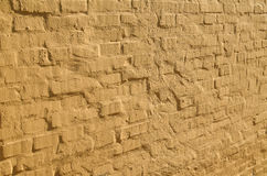 Yellow bricks wall in perspective Royalty Free Stock Photography