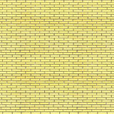 Yellow bricks wall seamless texture 3d illustration Stock Photos