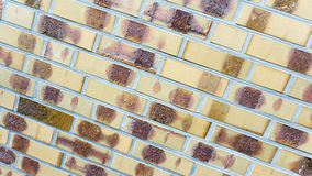 Yellow brickwork wall. New yellow brickwork wall of a house Stock Photography