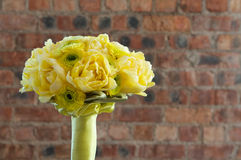 A yellow bridal bouquet Royalty Free Stock Photography