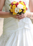 Yellow bridal bouquet Stock Image