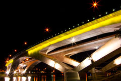 Yellow bridge Royalty Free Stock Photo