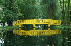 Yellow bridge Stock Photography