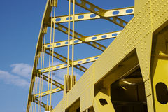 Yellow Bridge. Detail of Bridge Royalty Free Stock Photos
