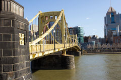 Yellow Bridge Side Royalty Free Stock Photography