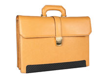 Yellow briefcase Stock Photography