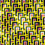 Yellow bright geometric pattern. Vector eps 10 Stock Photo