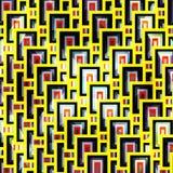 Yellow bright geometric pattern Stock Photo