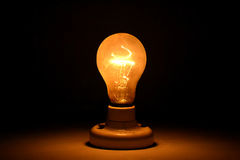 A yellow-bright light bulb. Such a amazing light bulb . cant wait get it Stock Images