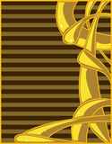 Yellow brown abstract background. Yellow  abstract with brown striped background Stock Photography