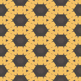 Yellow and brown abstract seamless micro sctructure mesh pattern Stock Photos