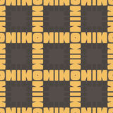 Yellow and brown abstract seamless square mesh pattern background Royalty Free Stock Photo