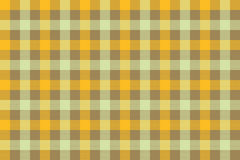 Yellow brown check fabric texture background seamless pattern Stock Images