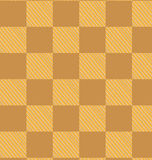Yellow brown checked fabric seamless pattern Stock Photography