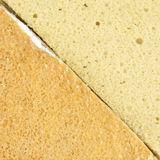 Yellow and brown coffee chiffon cake texture Royalty Free Stock Photos