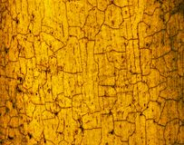 Yellow brown crackled texture Royalty Free Stock Photography