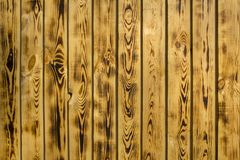 Yellow brown fence wall of natural wooden boards. vertical lines. rough surface texture. A yellow brown fence wall of natural wooden boards. vertical lines royalty free stock image