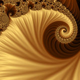 Yellow and brown fractal. Royalty Free Stock Photos