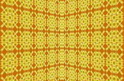 Abstract background. Yellow, brown unique pattern from geometric shapes and stripes. Royalty Free Stock Images