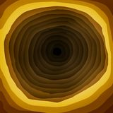 Yellow and Brown Hole in Multi-layer Background. The flat design of yellow and brown hole in multi-layer background Royalty Free Stock Images
