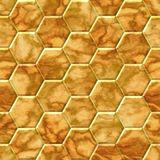 Yellow brown honey comb seamless marble pattern. Yellow brown honey comb tiles seamless marble pattern texture background Royalty Free Stock Photo