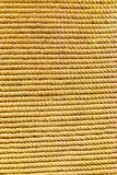 Yellow brown linen rope Stock Photos