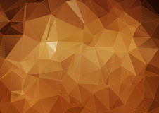 Yellow brown polygonal background Stock Image