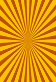 Yellow and brown ray sunburst style background Stock Photography