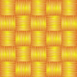 Yellow Brown Seamless Weave Background. Vector Illustration Royalty Free Stock Photo