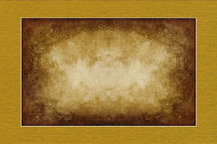 Yellow-brown vintage style  paper Stock Photography