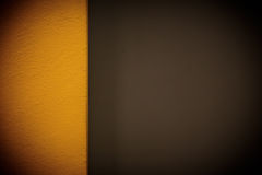 Yellow brown wall. Wallpaper abstract background Stock Image