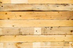 Yellow brown wood wall for background texture Royalty Free Stock Photography