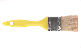Yellow brush Royalty Free Stock Image