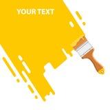 Yellow brush background Royalty Free Stock Image