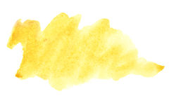 Yellow brush strokes royalty free stock image