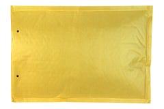 Yellow Bubble envelope isolated on white background Stock Photography