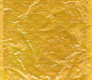 Yellow bubble wrap texture background Stock Images