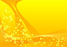 Yellow bubbles. Abstract vector of yellow bubbles and lines Stock Image