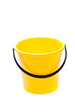Yellow bucket. On a white background Stock Images