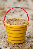 Yellow Bucket Royalty Free Stock Image