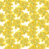 Yellow bud of lotus , seamless pattern Royalty Free Stock Photo
