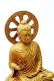 Yellow Buddha Image On White Background Royalty Free Stock Photography