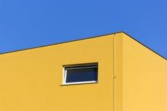 Yellow building stock image