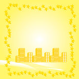Yellow Building Background Royalty Free Stock Photography