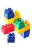 Yellow building block of meccano Royalty Free Stock Image
