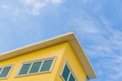 The yellow building Royalty Free Stock Images