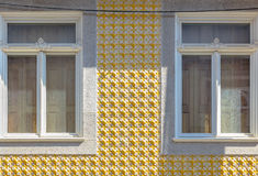 Yellow Building Decoration Stock Photography