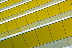 Yellow building detail stock photo