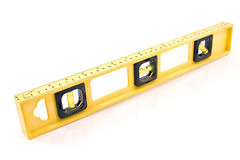 Yellow building level. Isolated on a white Royalty Free Stock Photography