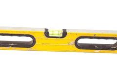 Yellow building level. Isolated on white background Royalty Free Stock Image